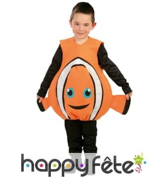 Combinaison Némo le poisson clown pour enfant