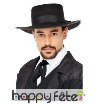 Chapeau noir style années 20 pour homme