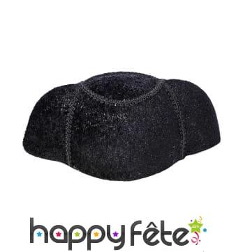 Chapeau noir uni de torero pour adulte