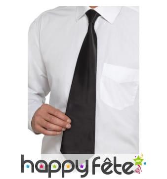 Cravatte noire unie, deluxe