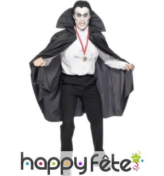 Cape noir vampire homme