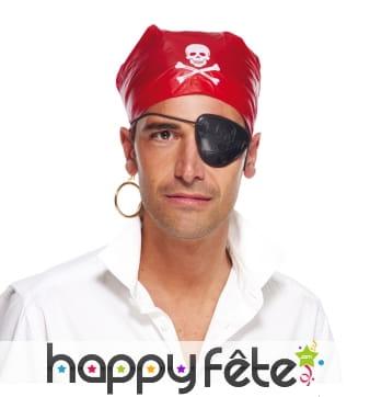 Cache-oeil , créole et foulard de pirate adulte