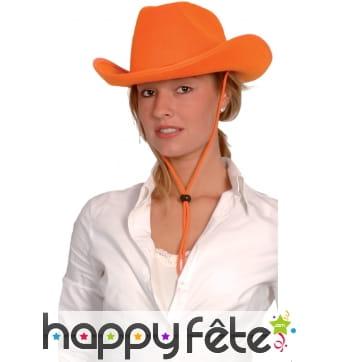 Chapeau orange de cowboy