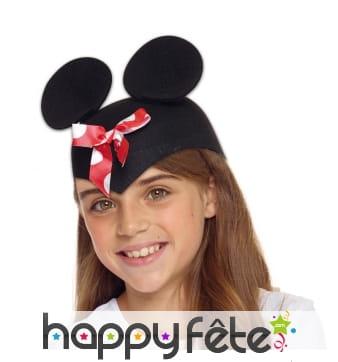 Chapeau oreilles de Madame souris pour enfant