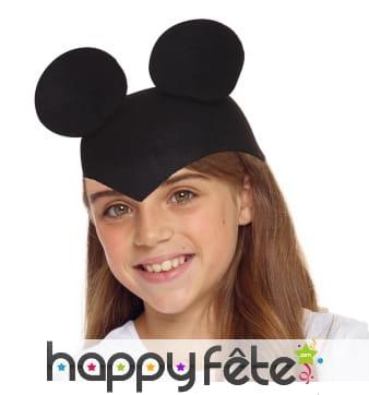 Chapeau oreilles de souris pour enfant