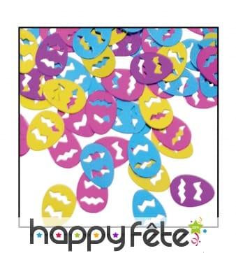 Confettis oeufs de paques multicolores