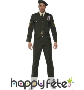 Costume officier de guerre kaki
