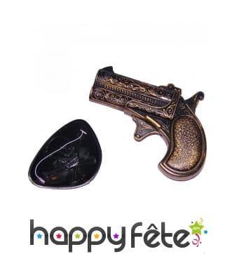 Cache oeil et petit pistolet de pirate pour adulte
