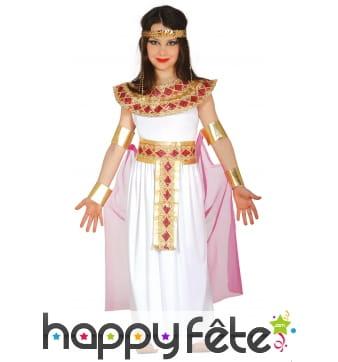 Costume or et rose d'égyptienne pour enfant