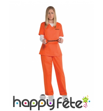 Combinaison Orange Is The New Black pour femme
