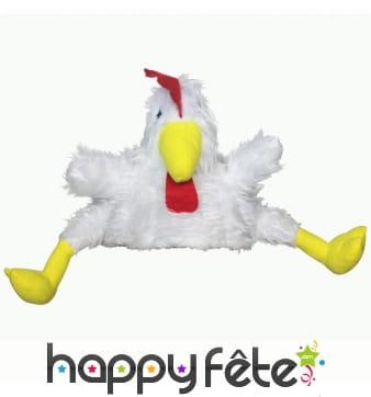 Chapeau poulet blanc pour adulte