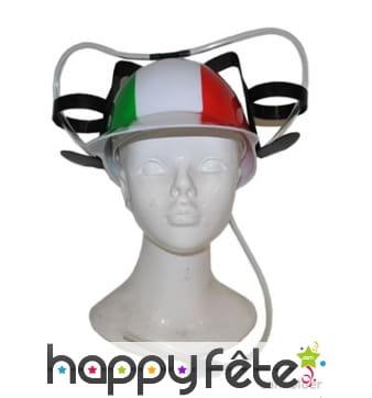 Casque porte canettes drapeau Italie
