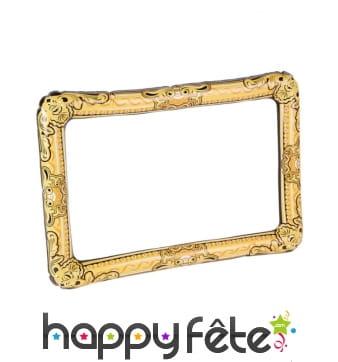 Cadre photo doré gonflable de 70 cm