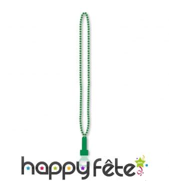 Collier pendentif décapsuleur vert, St Patrick