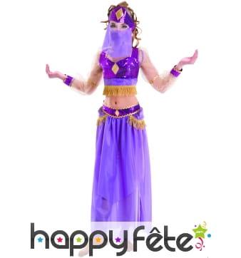 Costume petite danseuse du ventre violette