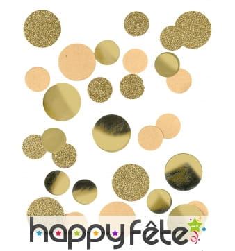 Confettis pailletés et dorés en papier kraft 30g