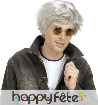 Courte perruque grise pour homme