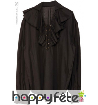Chemise pirate homme noire