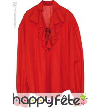 Chemise pirate homme rouge