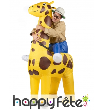 Costume Porte Moi gonflable de girafe pour adulte