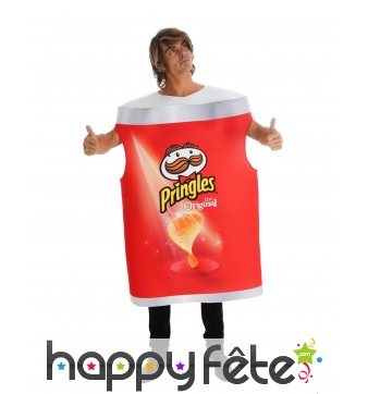 Costume Pringles original pour adulte