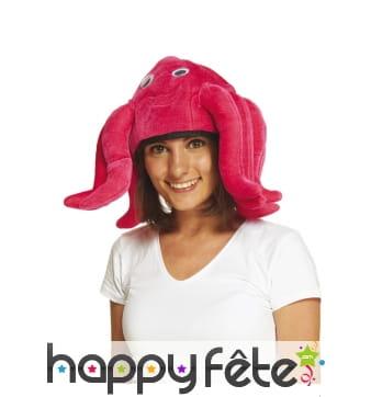 Chapeau poulpe pour adulte