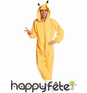 Combinaison Pikachu pour adulte