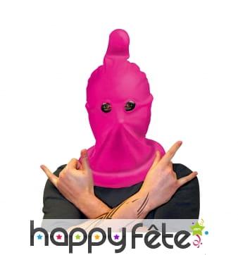 Cagoule préservatif rose