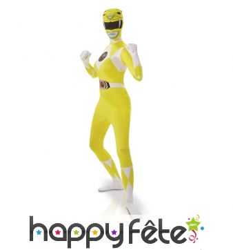 Costume power rangers jaune pour fille