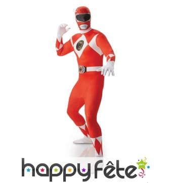 Costume power rangers rouge seconde peau