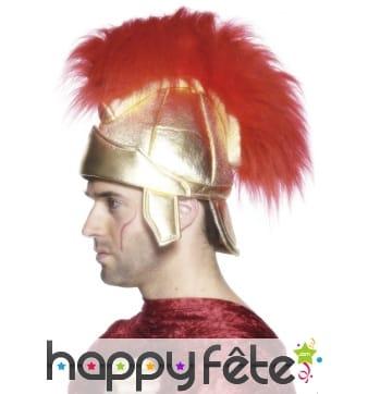 Casque romain avec cheveux