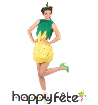 Costume robe ananas courte