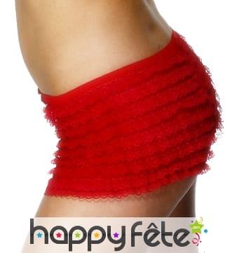 Culotte rouge avec froufrou de taille standard