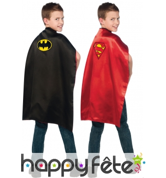 Cape reversible batman/ superman