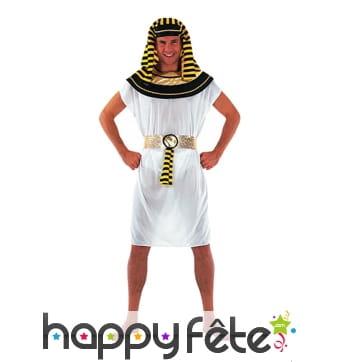 Costume robe blanche de pharaon pour homme