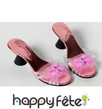 Chaussures rose de princesse pour enfant