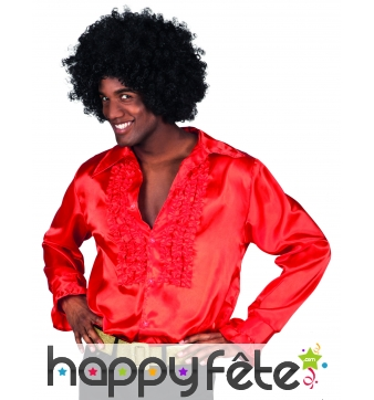 Chemise rouge disco pour homme adulte