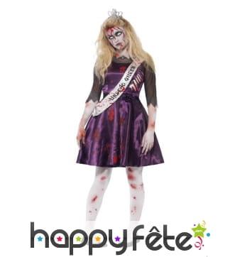 Costume reine de la promo zombie pour ado