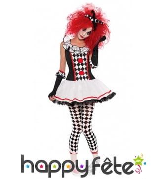 Costume robe d'adolescente arlequin