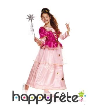 Costume robe de fée rose pour fillette