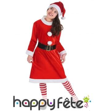 Costume robe de Mère Noël pour enfant