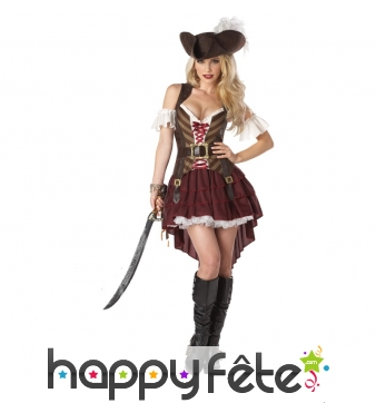 Costume robe de pirate élégante