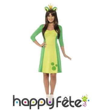 Costume robe de princesse grenouille