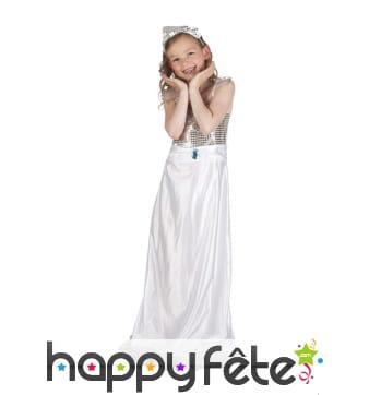 Costume robe de reine de la promo pour enfant