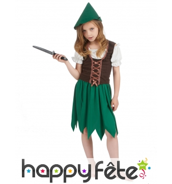 Costume robe de robin pour petite fille