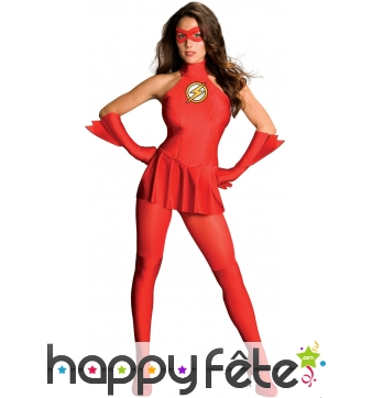 Costume rouge de Flash pour femme adulte