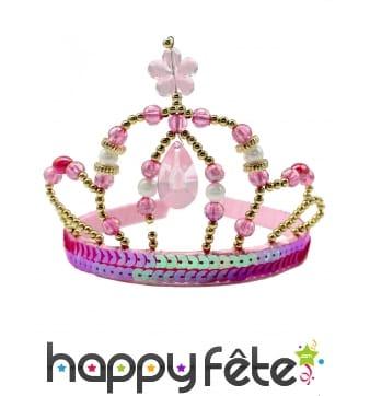 Couronne rose de princesse pour enfant