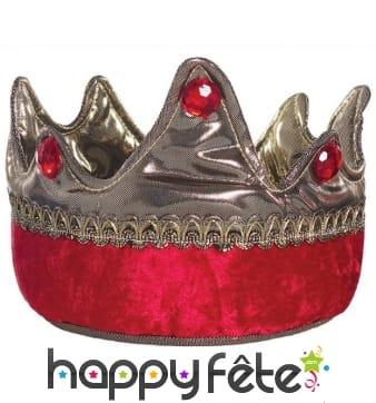 Couronne rouge de roi chevalier pour enfant