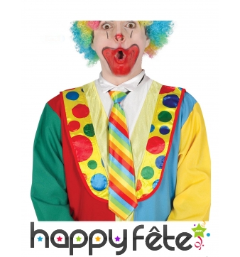 Cravate rayée de clown pour adulte