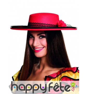 Chapeau rouge espagnole pour femme